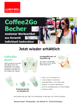 Coffee2Go Keramikbecher